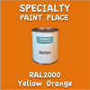 RAL 2000 Yellow Orange Gallon Can