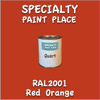 RAL 2001 Red Orange Quart Can
