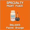 RAL 2003 Pastel Orange 2oz Bottle with Brush