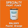 RAL 2003 Pastel Orange Gallon Can