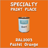 RAL 2003 Pastel Orange Quart Can