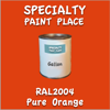 RAL 2004 Pure Orange Gallon Can