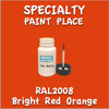 RAL 2008 Bright Red Orange 2oz Bottle with Brush