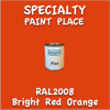 RAL 2008 Bright Red Orange Pint Can