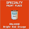 RAL 2008 Bright Red Orange Quart Can
