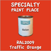 RAL 2009 Traffic Orange Gallon Can