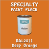 RAL 2011 Deep Orange Gallon Can