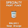 RAL 2011 Deep Orange Pint Can