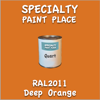 RAL 2011 Deep Orange Quart Can