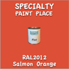 RAL 2012 Salmon Orange Pint Can