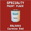 RAL 3002 Carmine Red Gallon Can