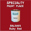 RAL 3003 Ruby Red Gallon Can