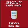RAL 3003 Ruby Red Quart Can