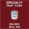 RAL 3005 Wine Red Quart Can