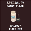 RAL 3007 Black Red 2oz Bottle with Brush