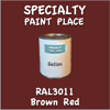 RAL 3011 Brown Red Gallon Can