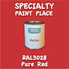 RAL 3028 Pure Red Gallon Can