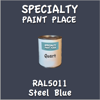 RAL 5011 Steel Blue Quart Can