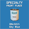 RAL 5015 Sky Blue Gallon Can