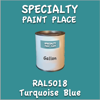 RAL 5018 Turquoise Blue Gallon Can