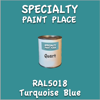 RAL 5018 Turquoise Blue Quart Can