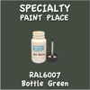 RAL 6007 Bottle Green 2oz Bottle with Brush