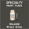 RAL 6008 Brown Green 2oz Bottle with Brush