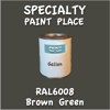 RAL 6008 Brown Green Gallon Can