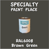 RAL 6008 Brown Green Quart Can
