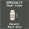 RAL 6015 Black Olive 2oz Bottle with Brush
