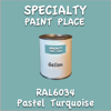 RAL 6034 Pastel Turquoise Gallon Can