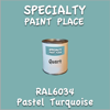 RAL 6034 Pastel Turquoise Quart Can