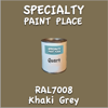 RAL 7008 Khaki Grey Quart Can