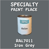 RAL 7011 Iron Grey Gallon Can