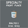 RAL 7011 Iron Grey Pint Can