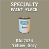 RAL 7034 Yellow Grey Quart Can