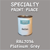 RAL 7036 Platinum Grey Gallon Can