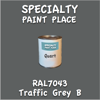 RAL 7043 Traffic Grey B Quart Can