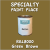 RAL 8000 Green Brown Gallon Can