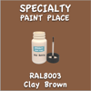 RAL 8003 Clay Brown 2oz Bottle with Brush