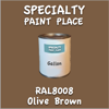 RAL 8008 Olive Brown Gallon Can