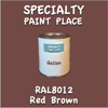 RAL 8012 Red Brown Gallon Can