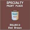 RAL 8012 Red Brown Quart Can