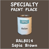RAL 8014 Sepia Brown Gallon Can