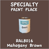 RAL 8016 Mahogany Brown Quart Can
