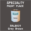 RAL 8019 Grey Brown Gallon Can