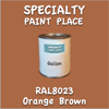 RAL 8023 Orange Brown Gallon Can