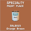 RAL 8023 Orange Brown Quart Can