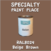 RAL 8024 Beige Brown Gallon Can