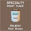 RAL 8025 Pale Brown Gallon Can